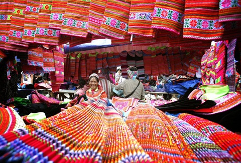 Bac Ha sunday market in Lao Cai province